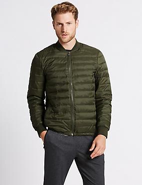 Lightweight Padded Jacket with Stormwear™, DARK OLIVE, catlanding