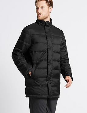 Lightweight Padded Jacket with Stormwear™, BLACK, catlanding
