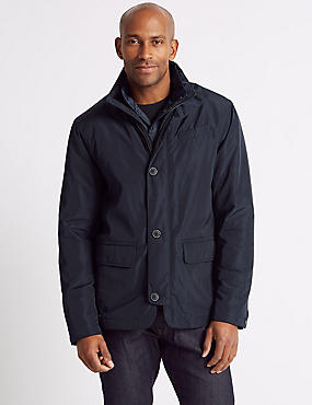 Double Collar Jacket, NAVY, catlanding