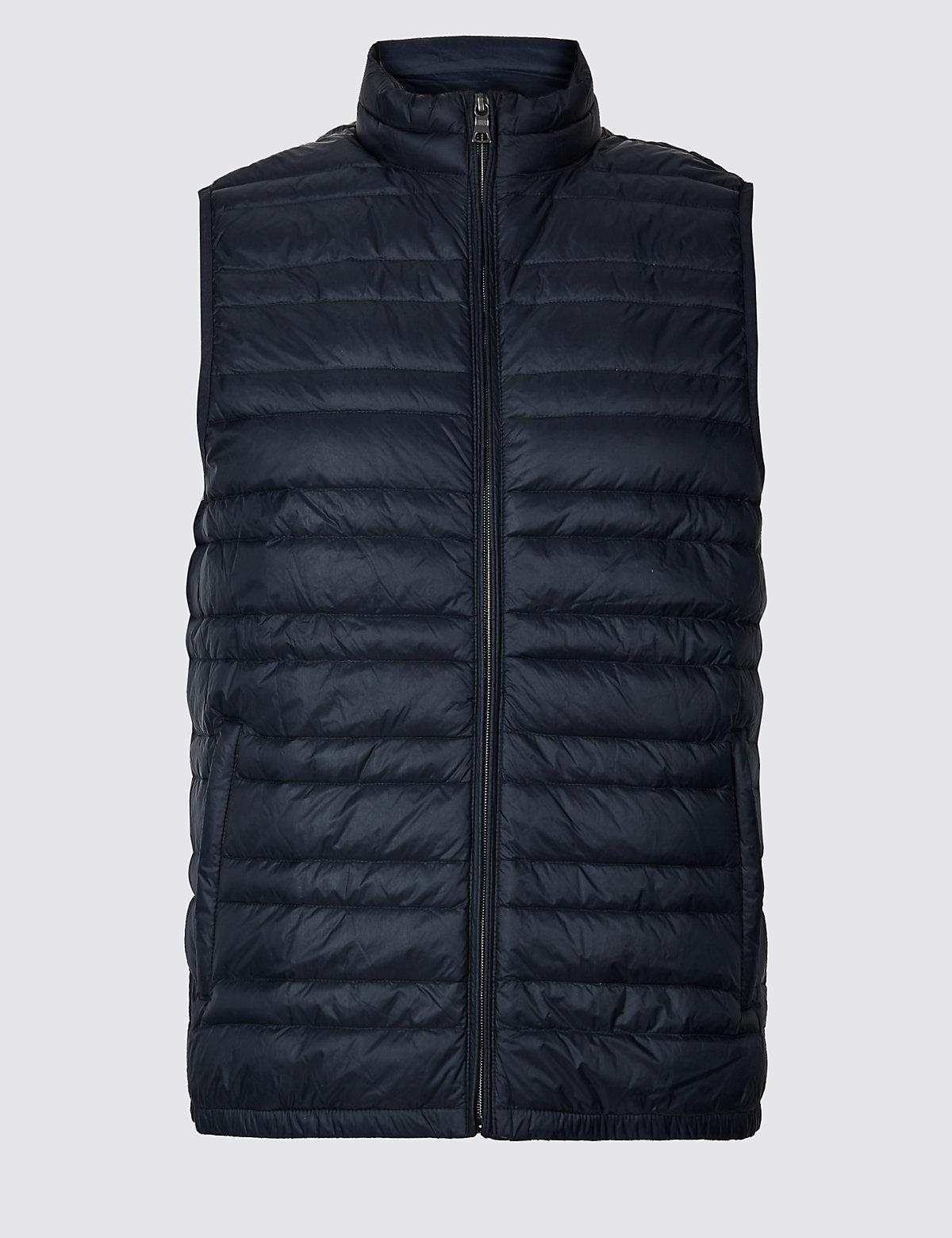 Жилетка мужская Down & Feather с технологией Stormwear™ M&S Collection. Цвет: темно-синий
