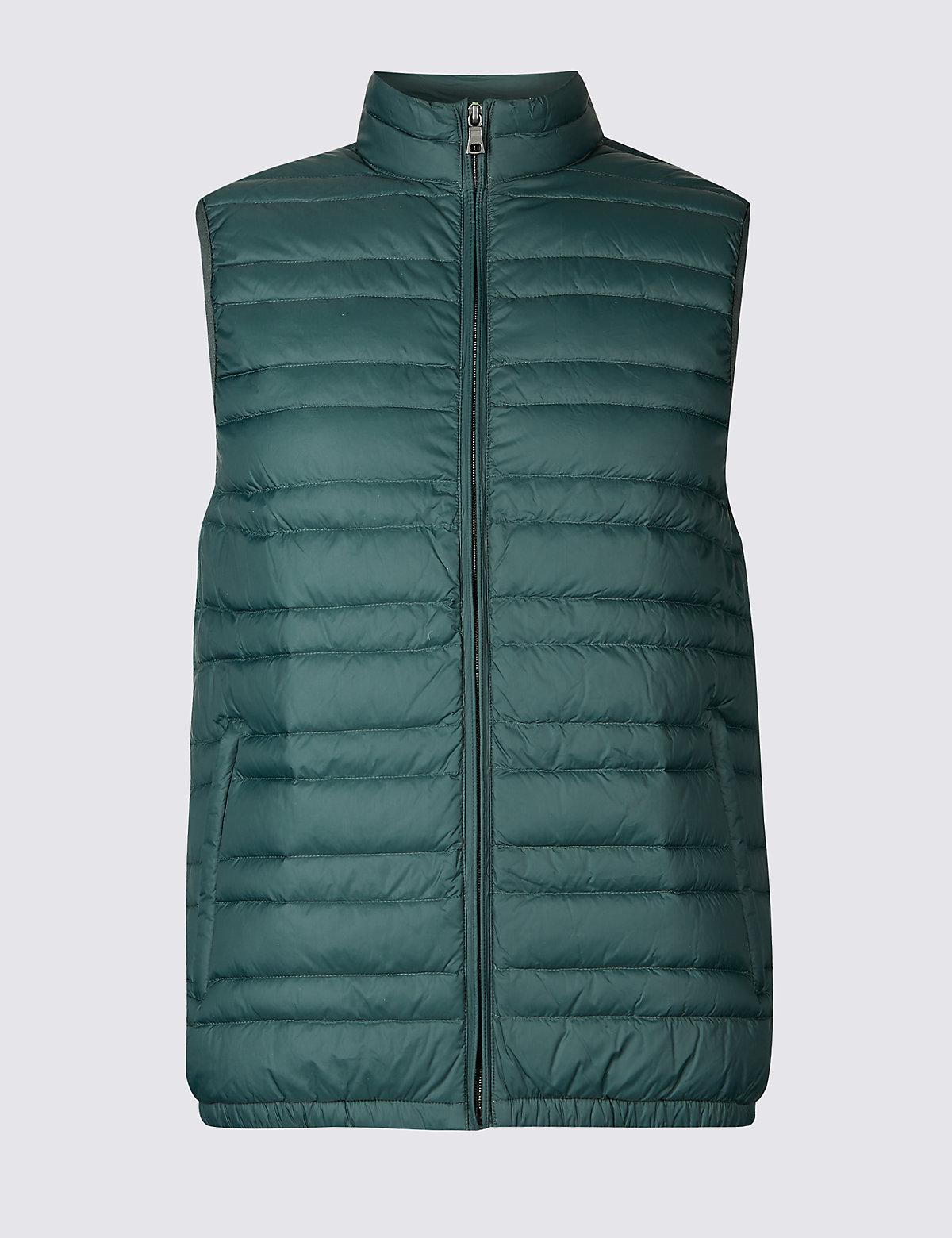 Жилетка мужская Down & Feather с технологией Stormwear™ M&S Collection. Цвет: зеленый