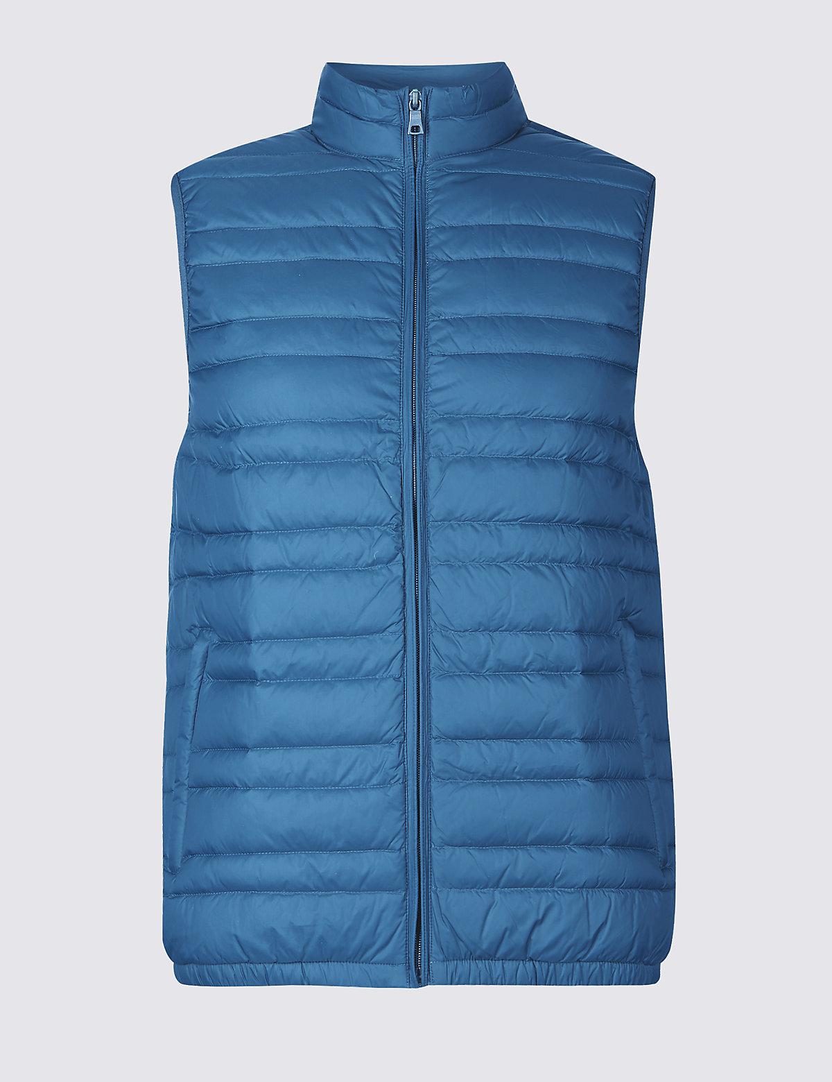 Жилетка мужская Down & Feather с технологией Stormwear™ M&S Collection. Цвет: морская глубина