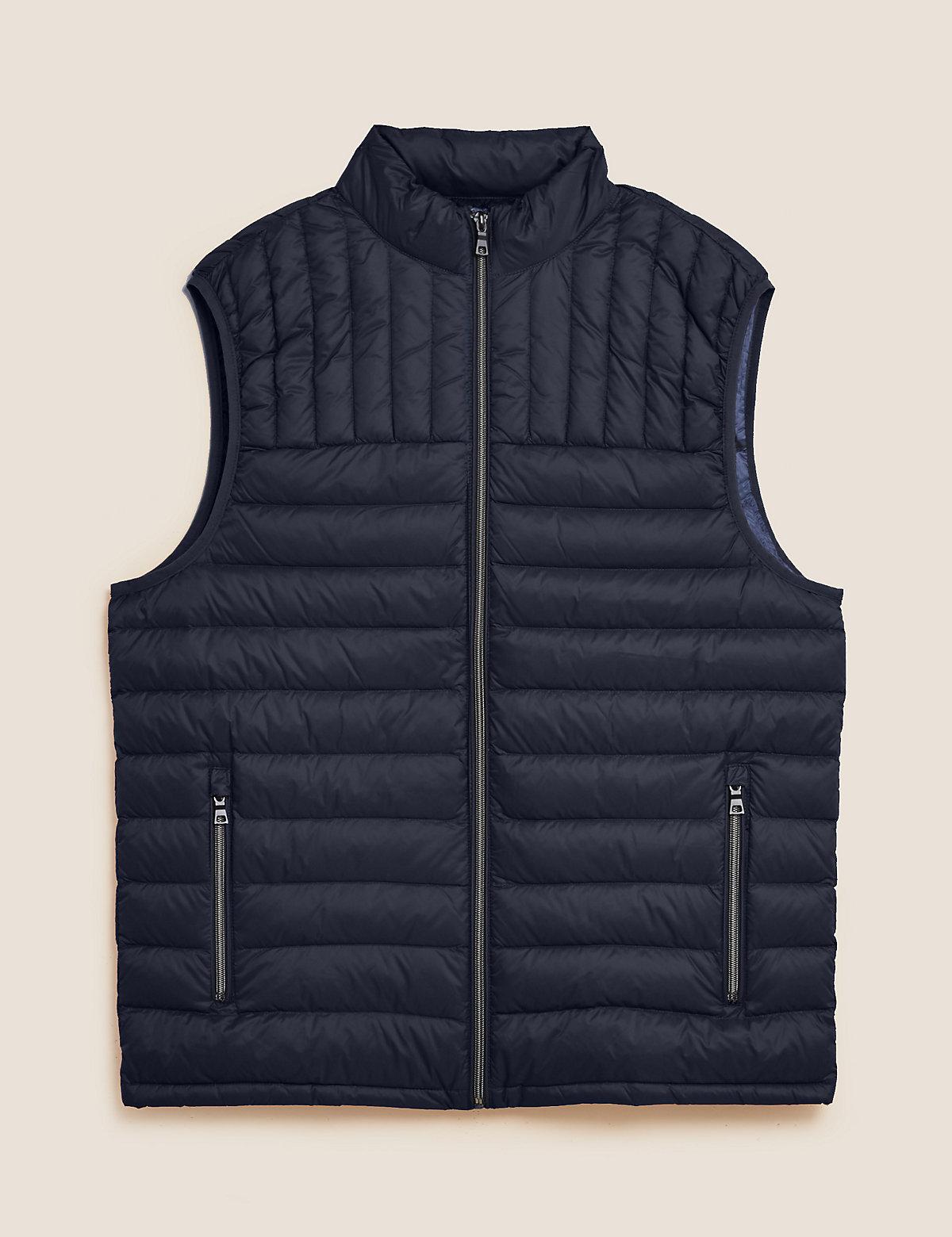 Жилет из пуха и пера с отделкой Stormwear™ с высокой горловиной