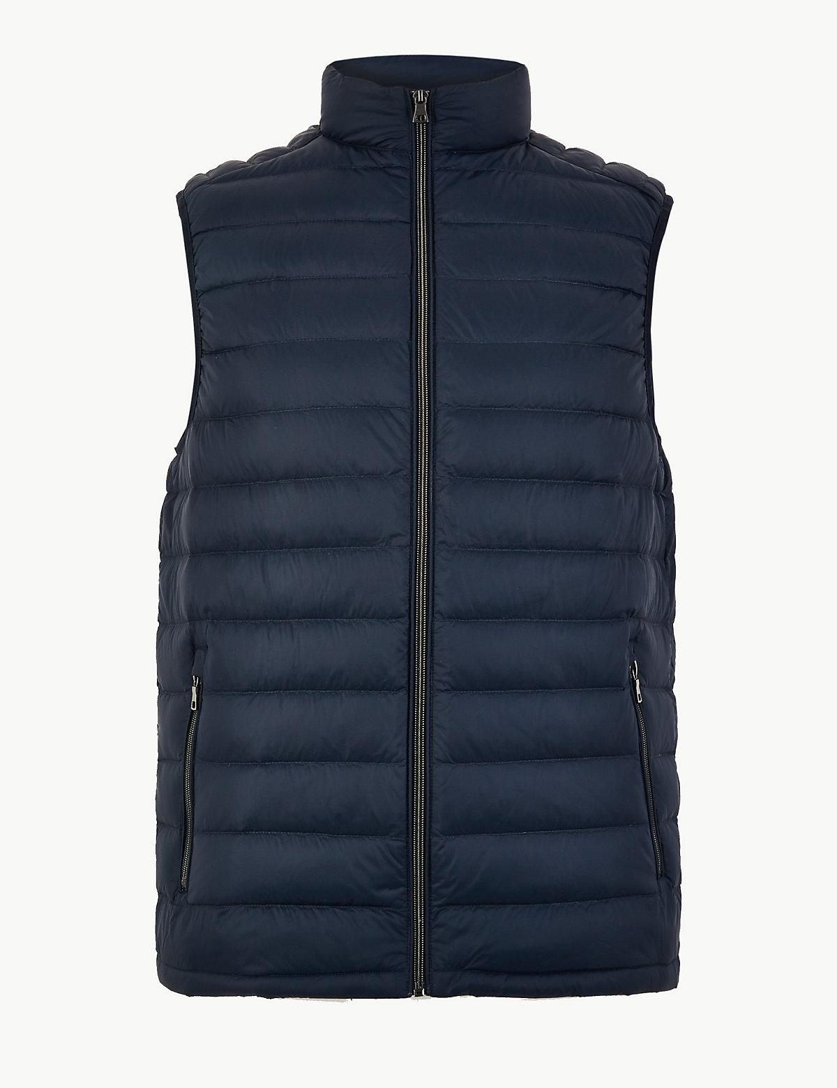 Мужской жилет с технологией Stormwear™ M&S Collection. Цвет: темно-синий