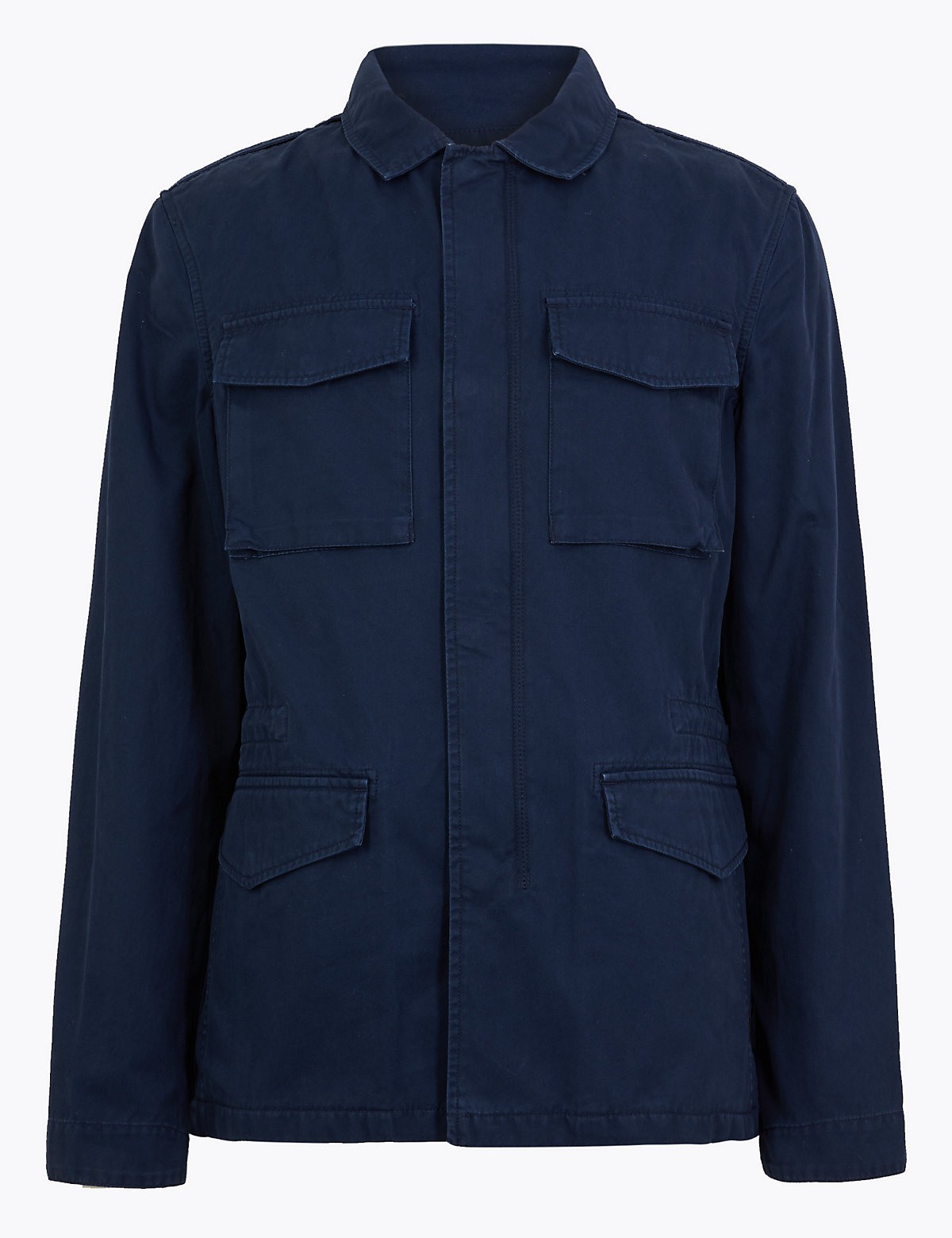 Хлопковый пиджак с карманами