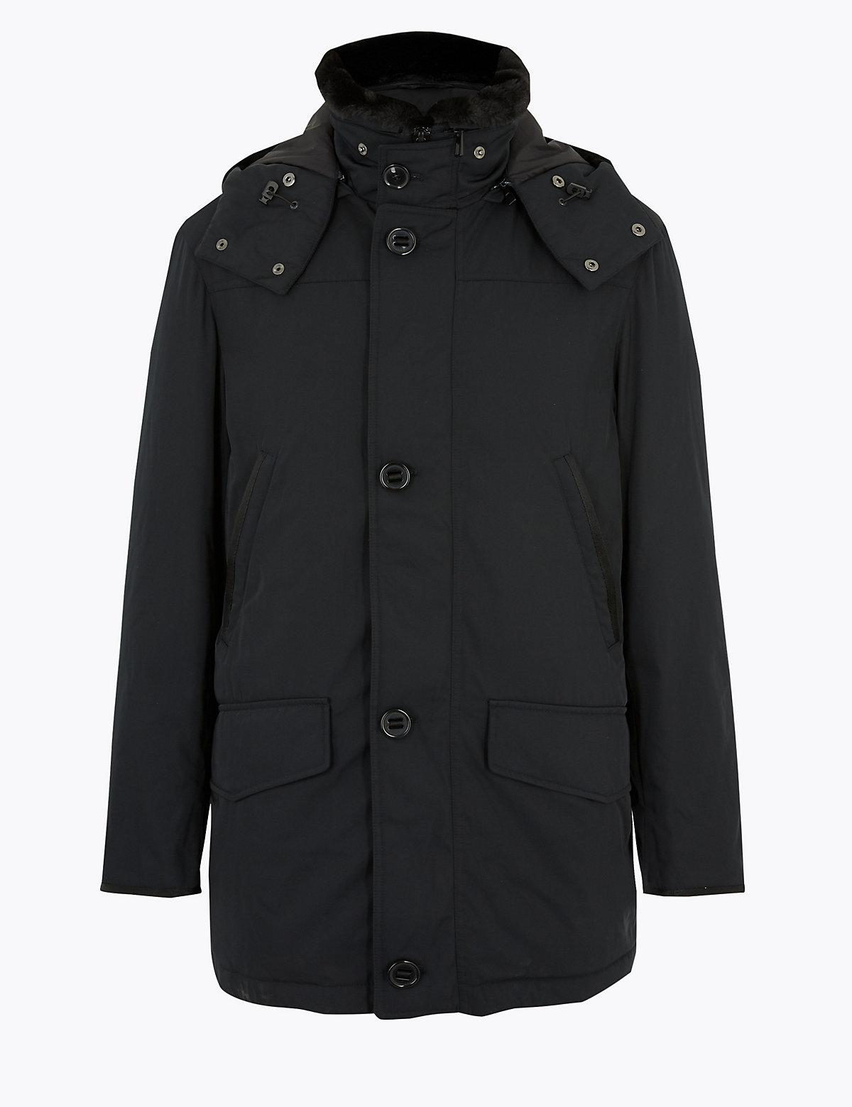 Куртка-парка из пуха и пера с отделкой Stormwear ™