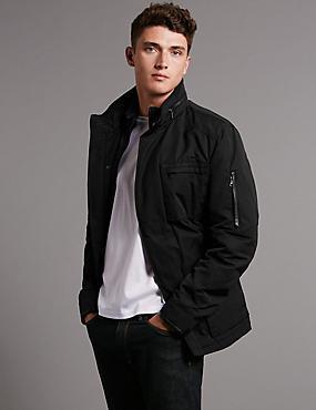 Trim Jacket with Stormwear™ & Thinsulate™, BLACK, catlanding