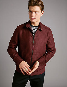 Harrington Bomber Jacket, BURGUNDY, catlanding
