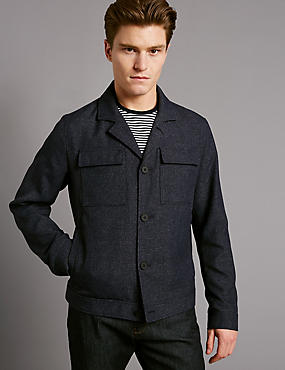 Harrington Jacket , DARK NAVY MIX, catlanding