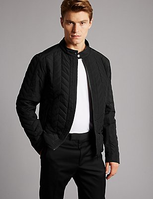 Quilted Jacket with Stormwear™, BLACK, catlanding