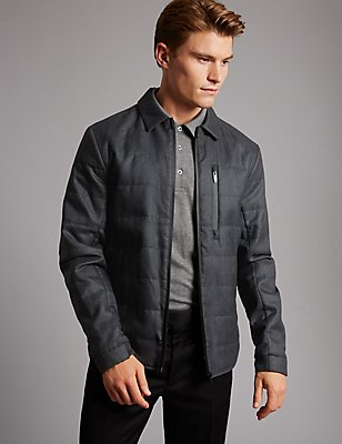 Shirt Harrington Jacket with Stormwear™, GREY MIX, catlanding