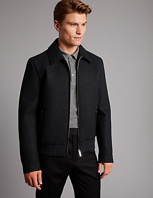 Wool Blend Jacket, GREY MARL, catlanding