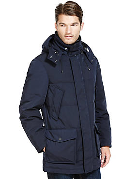 Warm Winter Parka Filled with Down & Feather & Stormwear™
