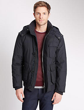 Short Parka with Removable Hood & Stormwear™