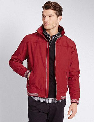 Windproof Bomber Jacket with Stormwear™, RED, catlanding