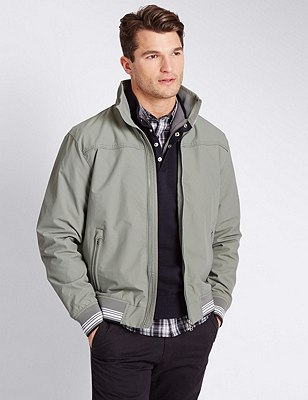 Windproof Bomber Jacket with Stormwear™, GREY, catlanding