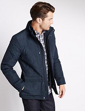 Veste ouatinée avec technologie Stormwear™, BLEU MARINE, catlanding
