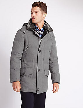 Winter Down Filled Parka with Stormwear™, GREY MIX, catlanding