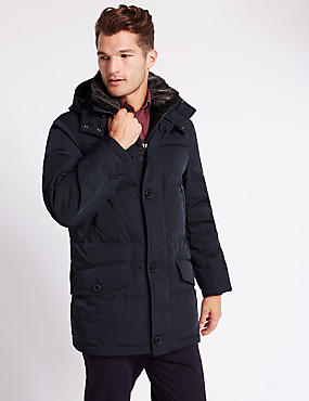 Big & Tall Winter Down Parka with Stormwear™, NAVY, catlanding