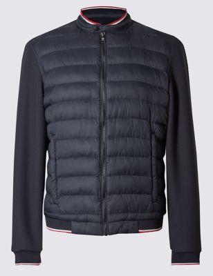 Стёганая куртка бомбер Stormwear™ с цветной полосой Blue Harbour T167573B