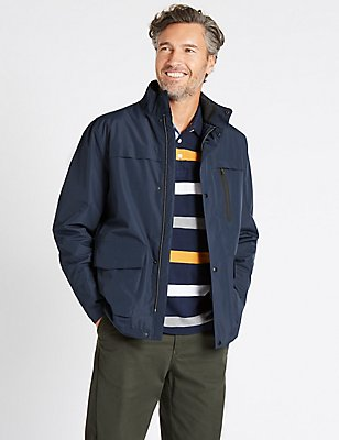 Patch Pocket Jacket with Stormwear™, NAVY, catlanding