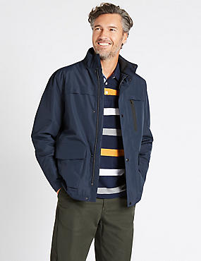 Patch Pocket Jacket with Stormwear™, NAVY, catlanding