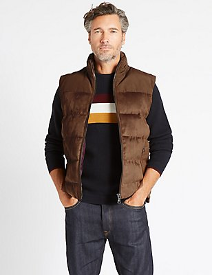 Quilted Gilet with Stormwear™ & Thinsulate™, CHOCOLATE, catlanding