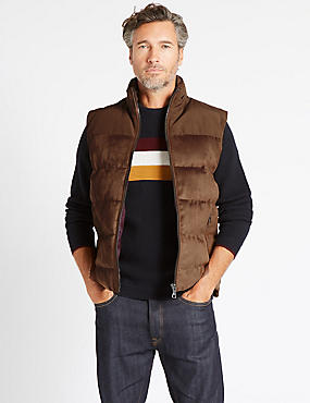 Quilted Gilet with Stormwear™, CHOCOLATE, catlanding