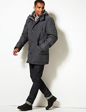 Parka garnie de plumes et de duvet, dotée de la technologie Stormwear™, GRIS, catlanding
