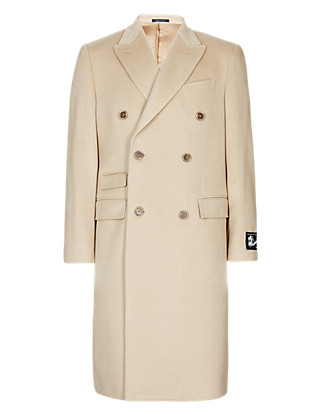 Made In Italy Pure Cashmere Double Breasted Coat Clothing