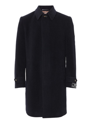 Luxury Italian Wool Coat with Cashmere Clothing