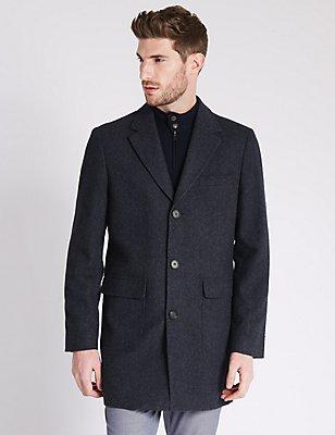 Single Breasted Coat, INDIGO, catlanding