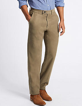 Regular Fit Moleskin Chinos, MOLE, catlanding