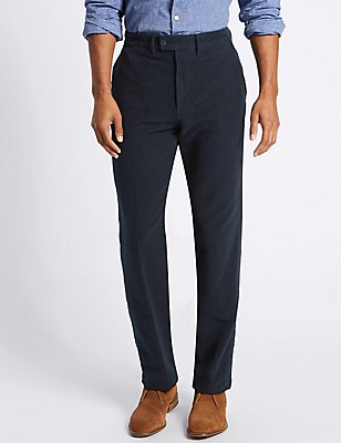 Regular Fit Moleskin Chinos, NAVY, catlanding