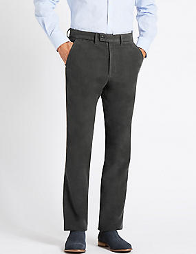 Regular Fit Moleskin Chinos, DARK GREY, catlanding