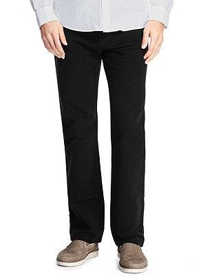 Stretch Cotton Italian Moleskin Jeans, BLACK, catlanding