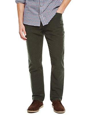 Pure Cotton Italian Moleskin Jeans, DARK GREEN, catlanding