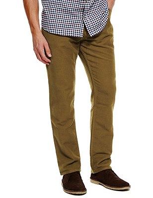 Pure Cotton Italian Moleskin Jeans, TOBACCO, catlanding