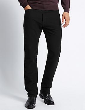 Pantalon en moleskine coupe standard 100% coton, NOIR, catlanding