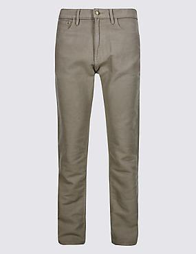 Big & Tall Pure Cotton Jean Style Trousers, MOLE, catlanding