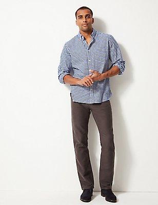 Pantalón de molesquín regular 100% algodón, GRIS, catlanding