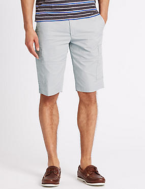 Cotton Rich Cargo Shorts, LIGHT GREY, catlanding