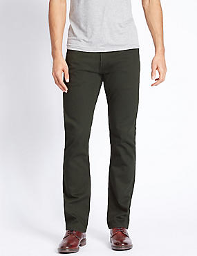 Slim Fit Stretch Jeans, GREEN, catlanding