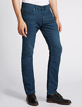 Slim Fit Stretch Jeans, DARK INDIGO, catlanding