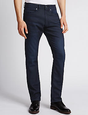 Slim Fit Stretch Jeans, INDIGO, catlanding