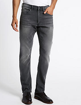 Slim Fit Stretch Jeans, BLACK MIX, catlanding