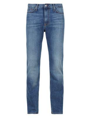 Потёртые классические джинсы стретч Blue Harbour T171343B