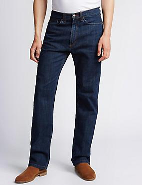 Big & Tall - Jeans elásticos de ajuste estándar, AZUL MEDIO, catlanding