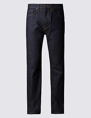 Big & Tall Regular Fit Stretch Jeans, INDIGO, catlanding