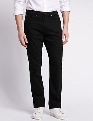 Big & Tall Regular Fit StayNew™ Jeans, BLACK, catlanding